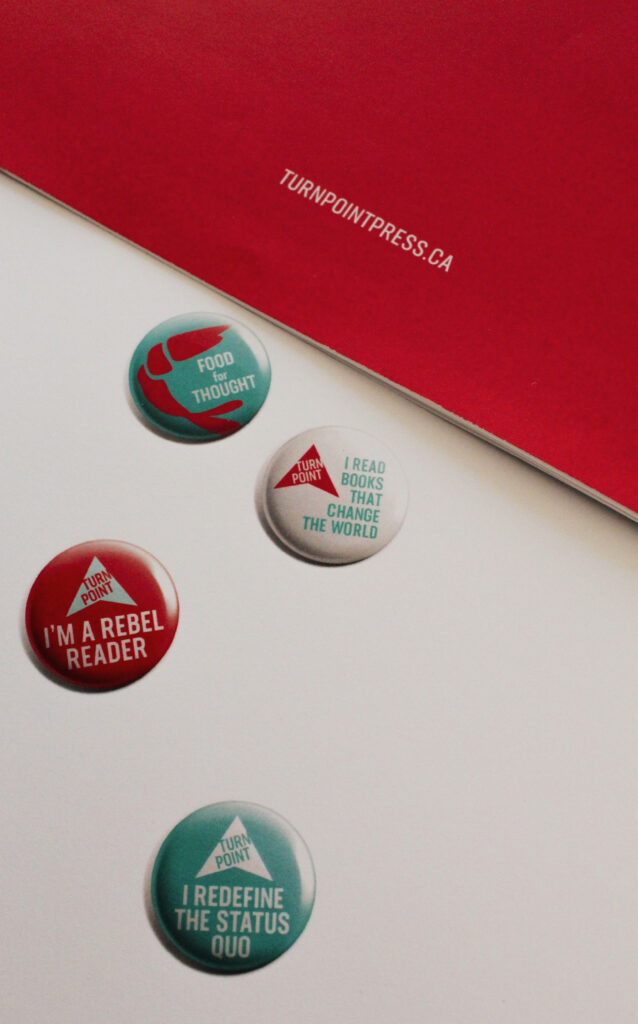 Turn Point Press project materials – marketing material buttons