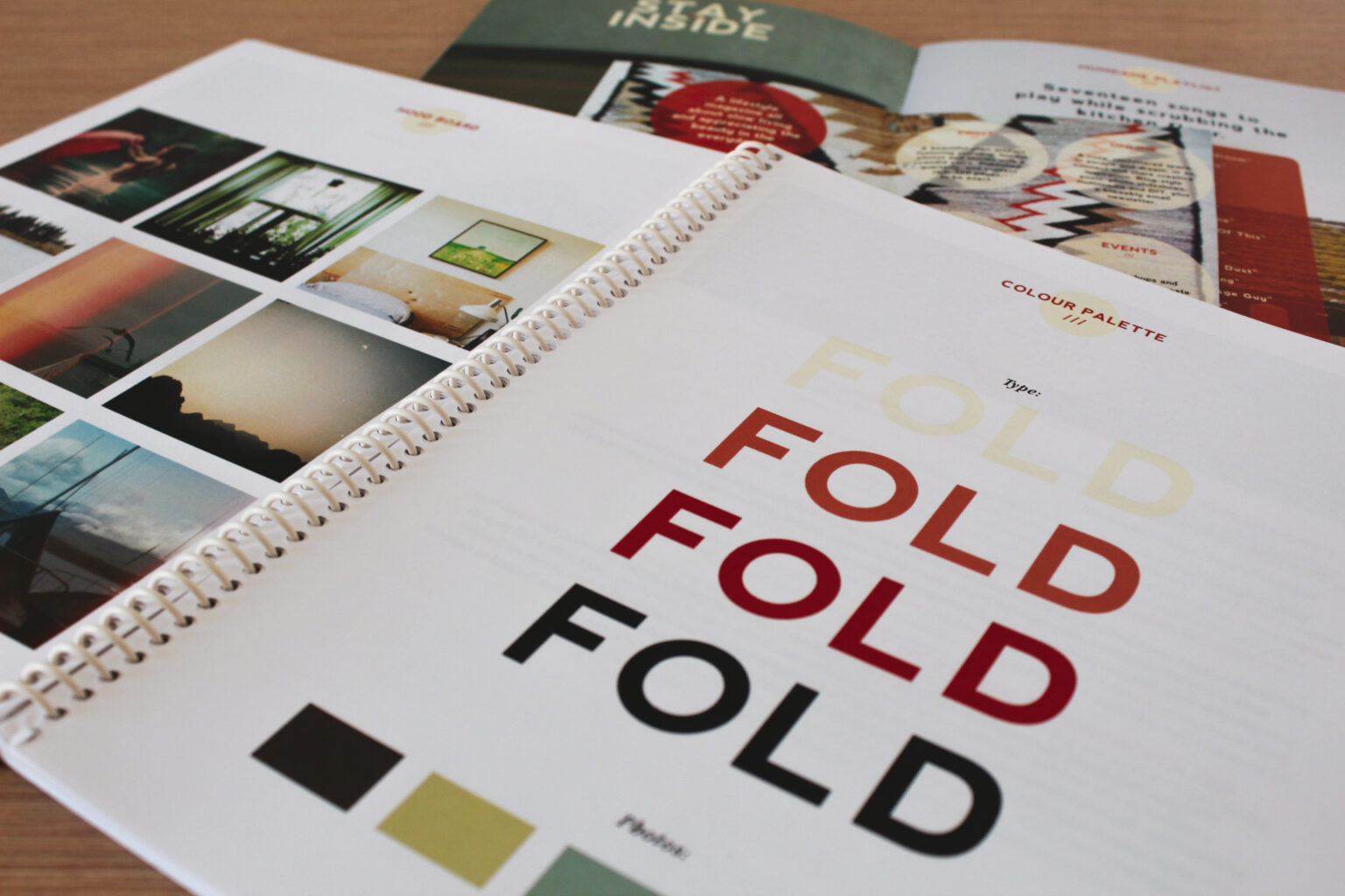 Fold project materials – colour palette and design identity