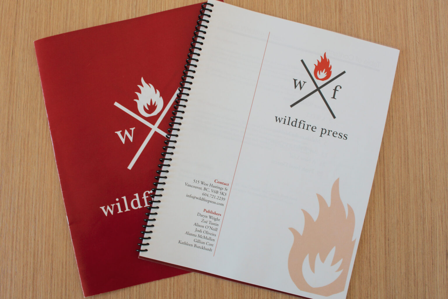 Wildfire Press project materials – report cover page