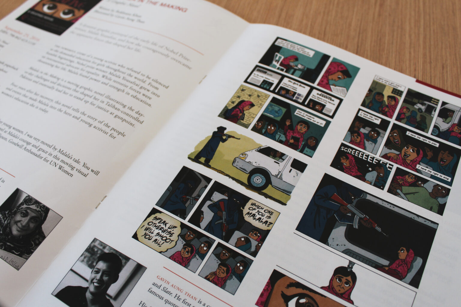 Wildfire Press project materials – Malala in the Making sample pages