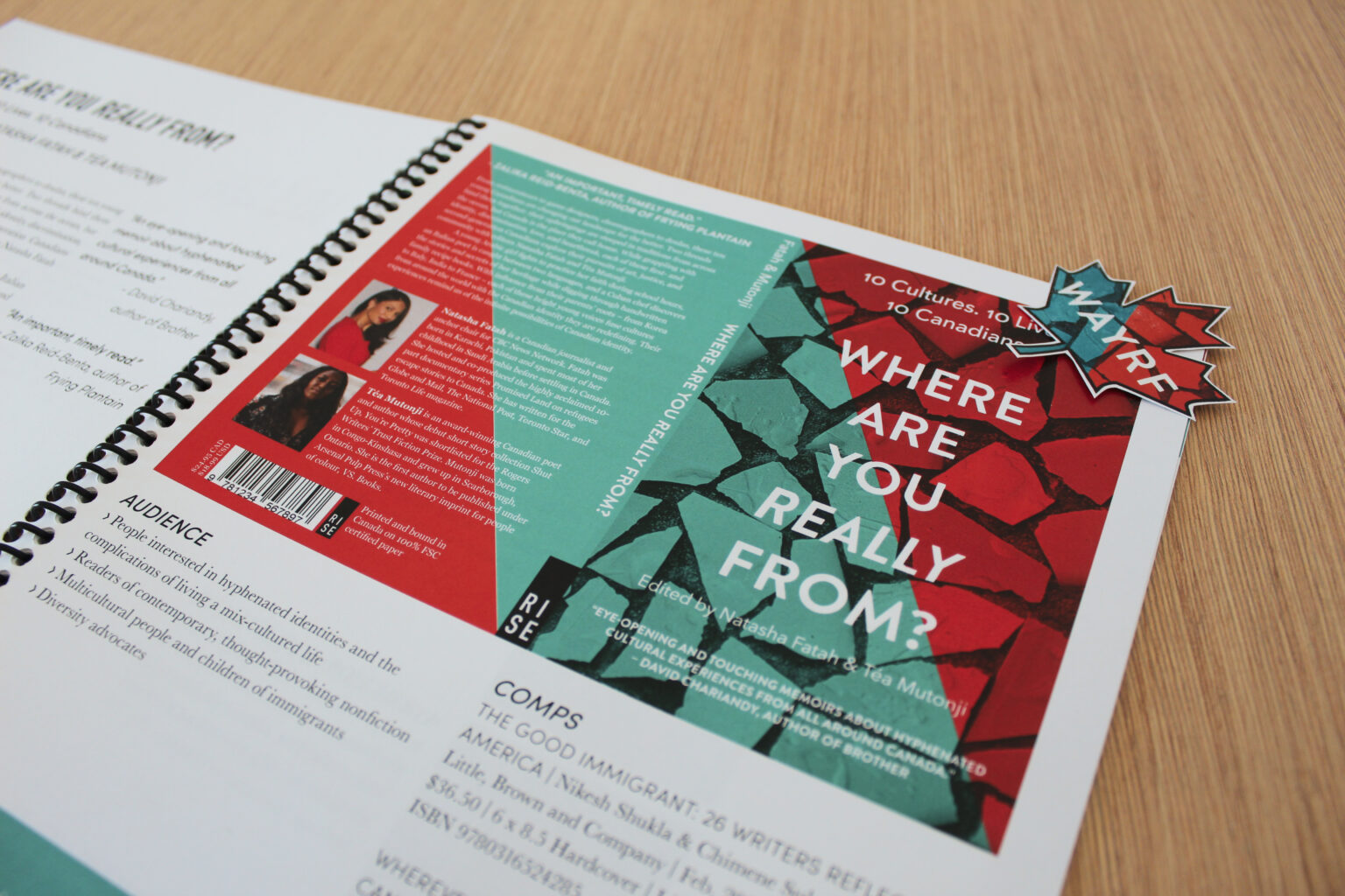RISE project materials – Where Are You Really From tip sheet and sticker