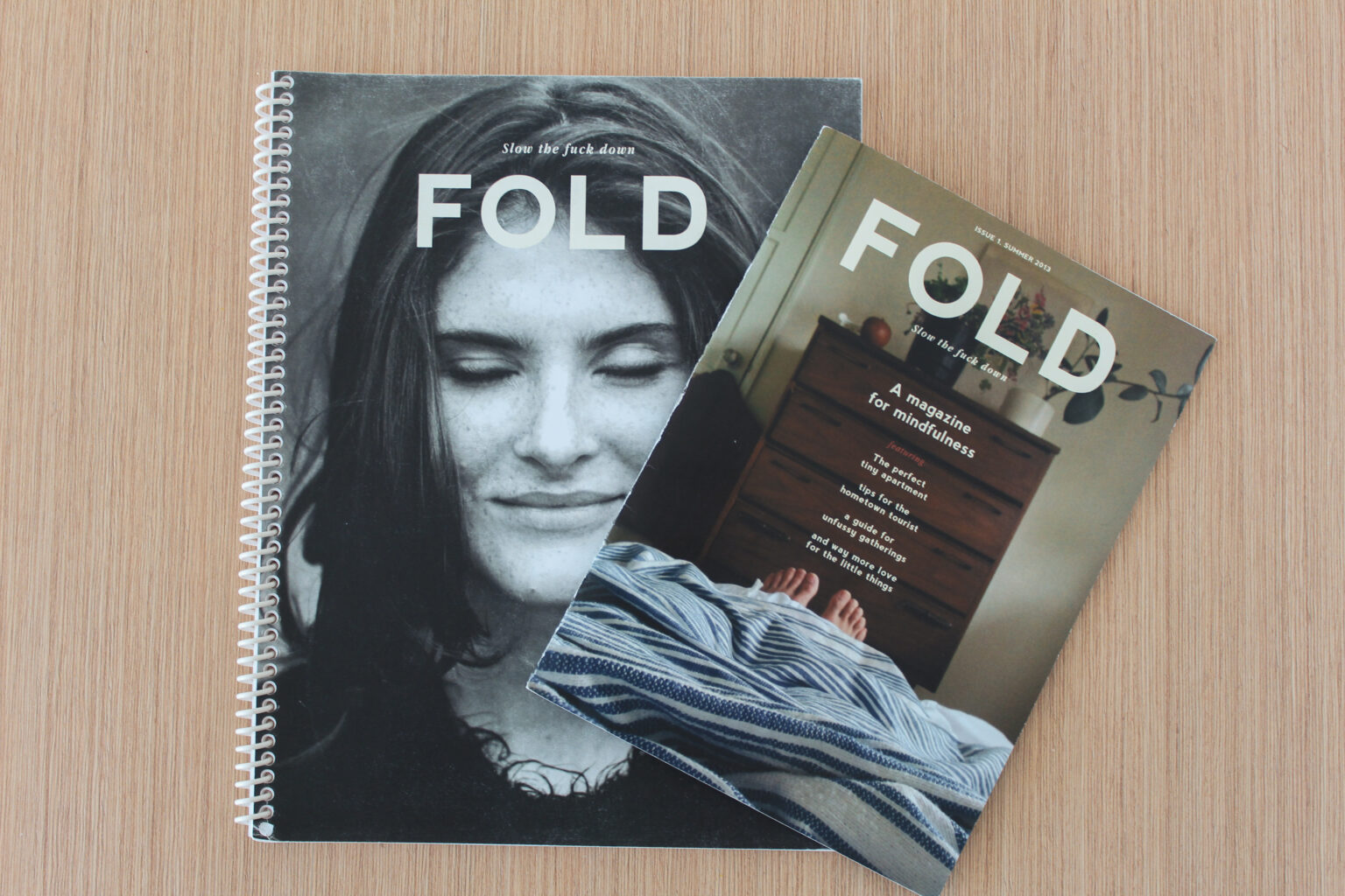 Fold project materials – cover of report and mini magazine