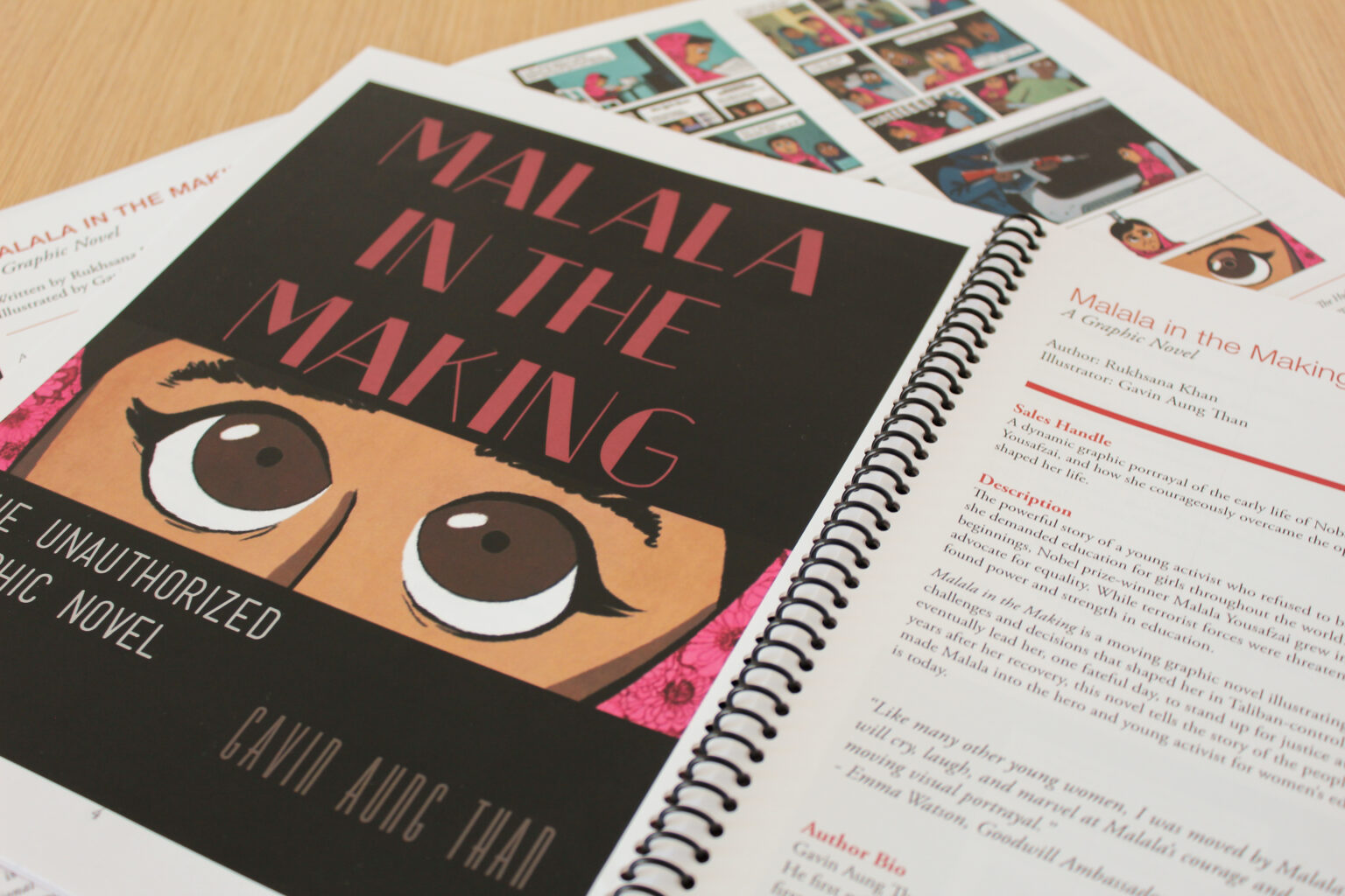 Wildfire Press project materials – Malala in the Making