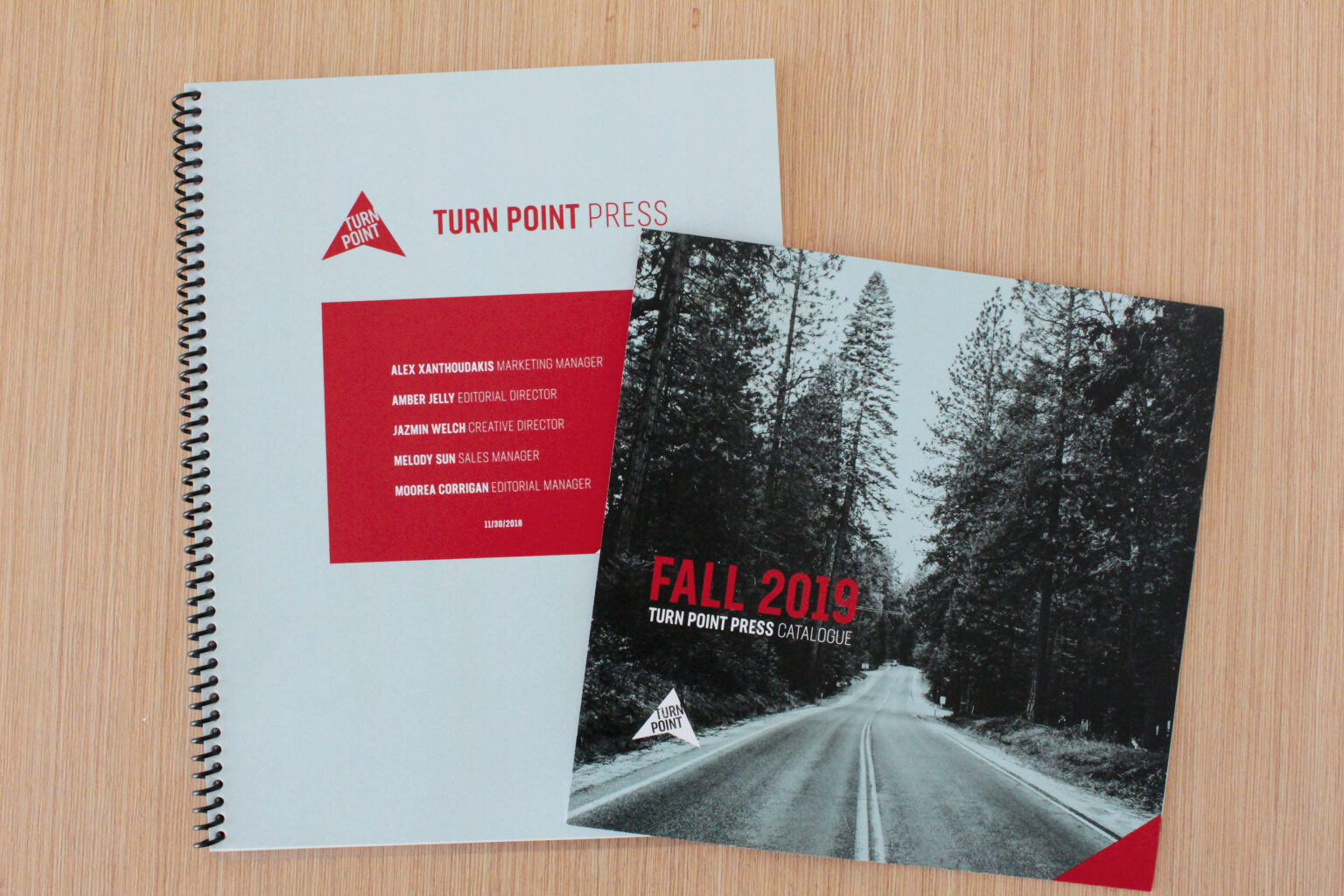 Turn Point Press project materials – catalogue and report
