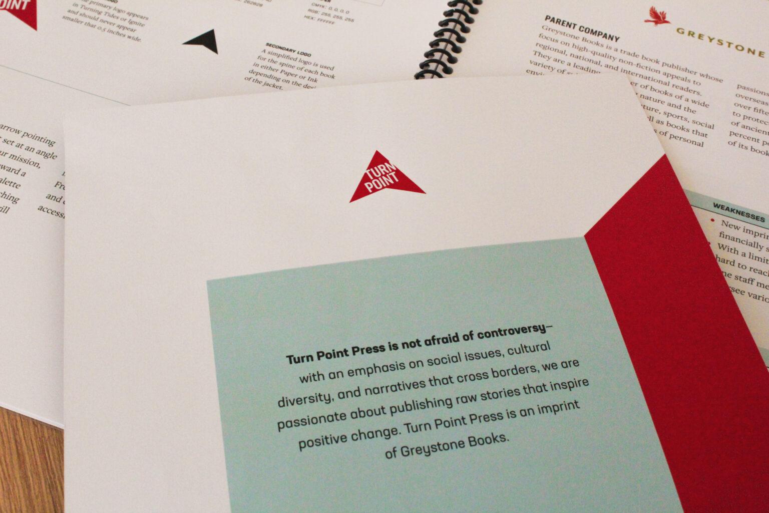 Turn Point Press project materials – mission statement