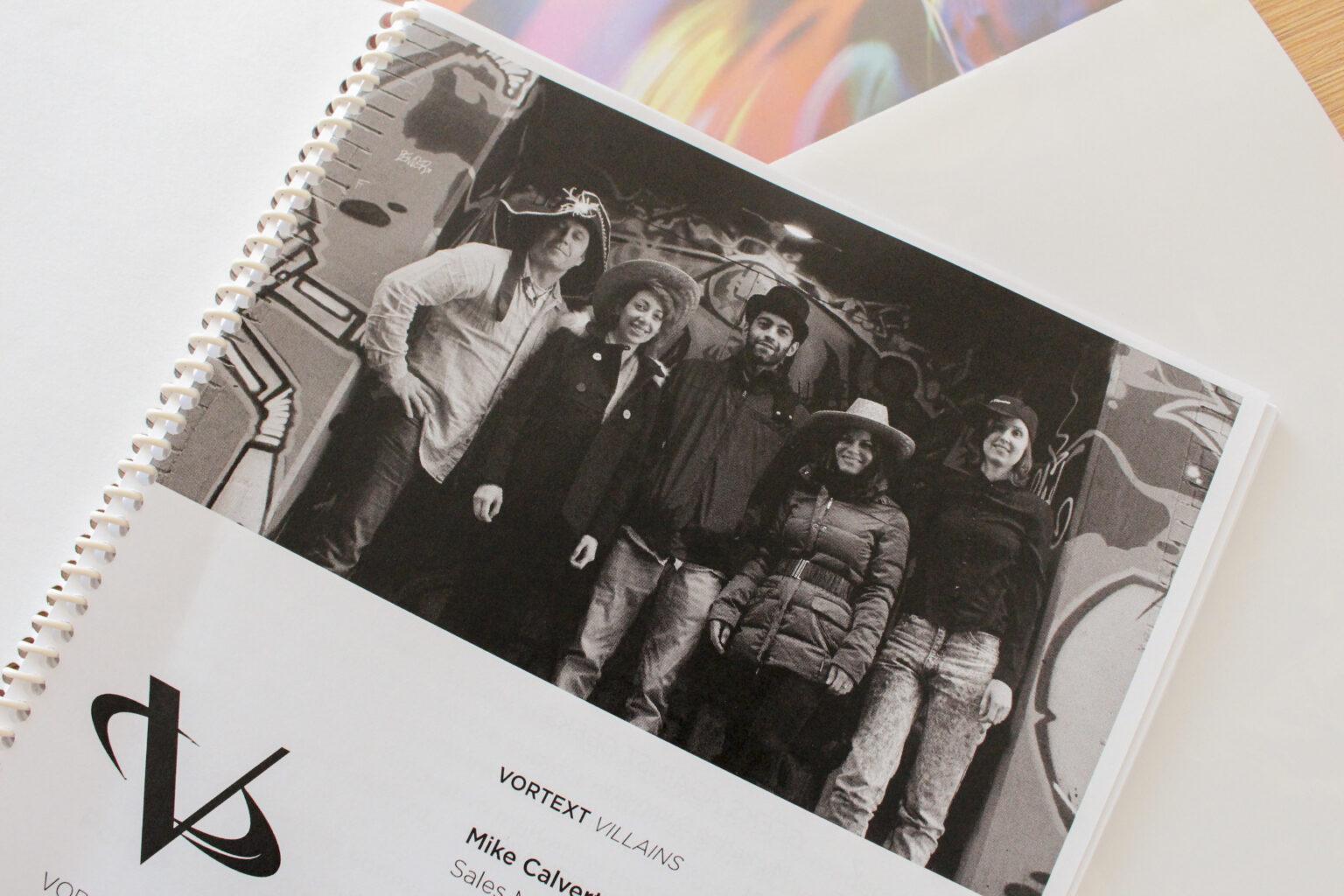 Vortext Press project materials – team photo