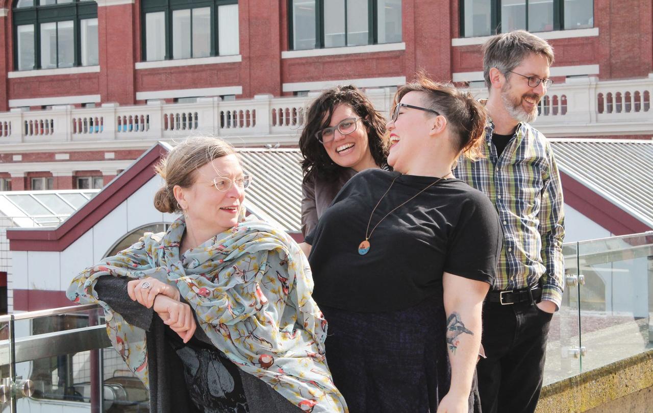 MPub Faculty – Leanne Johnson, Mauve Pagé, Hannah McGregor, and John Maxwell