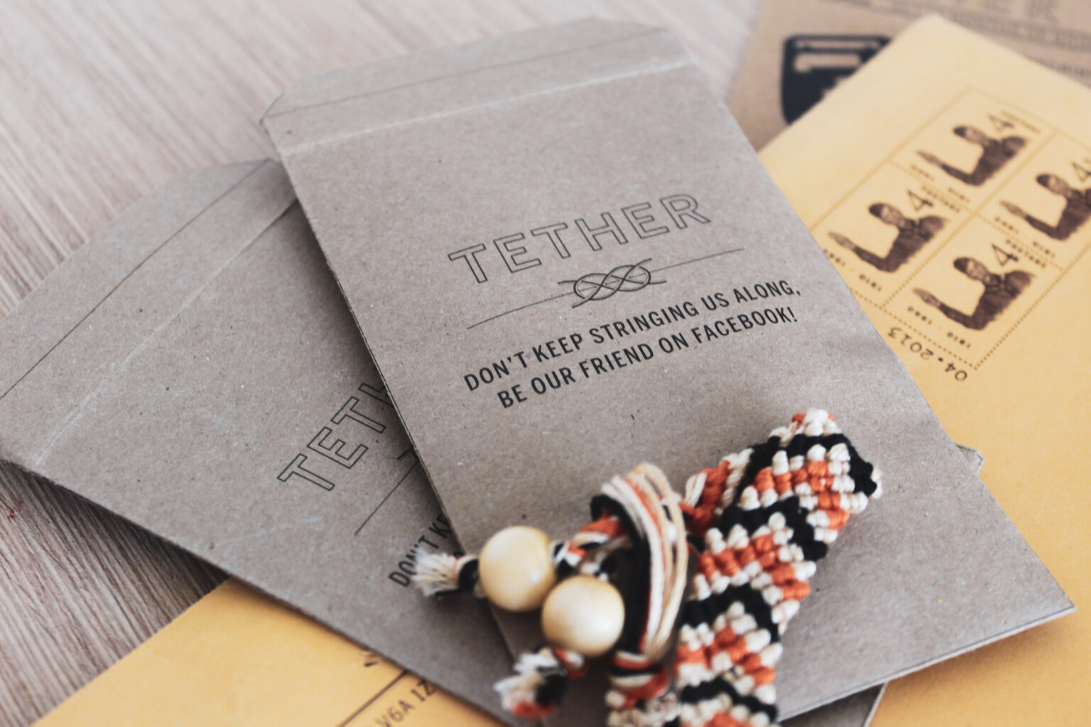 Tether Project Materials – woven bracelet mementos