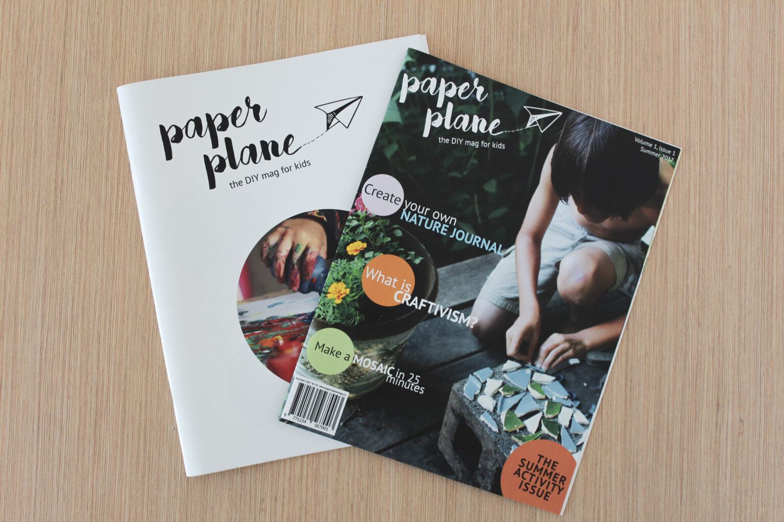 Paper Plane project materials – front covers