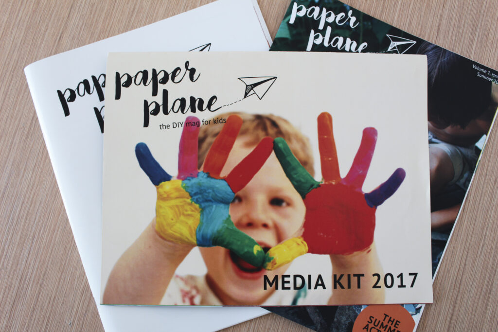 Paper Plane project materials – front covers + media kit