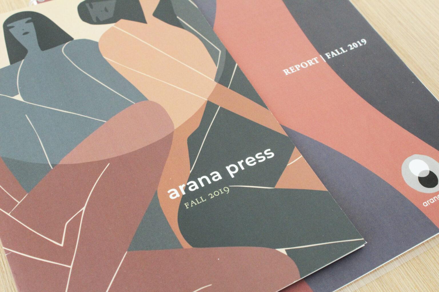 Arana Press project materials – front covers