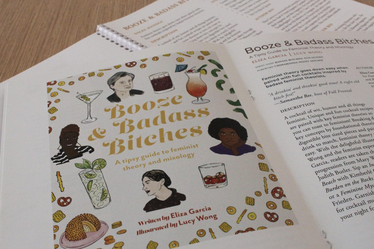 Arana Press project materials – Booze & Badass Bitches cover