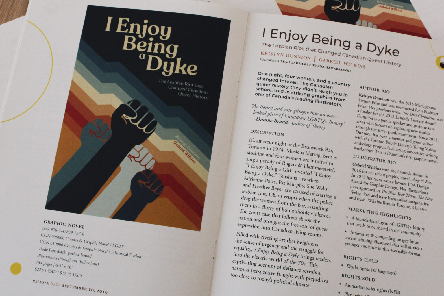 Arana Press project materials – I Enjoy Being a Dyke cover and tipsheet
