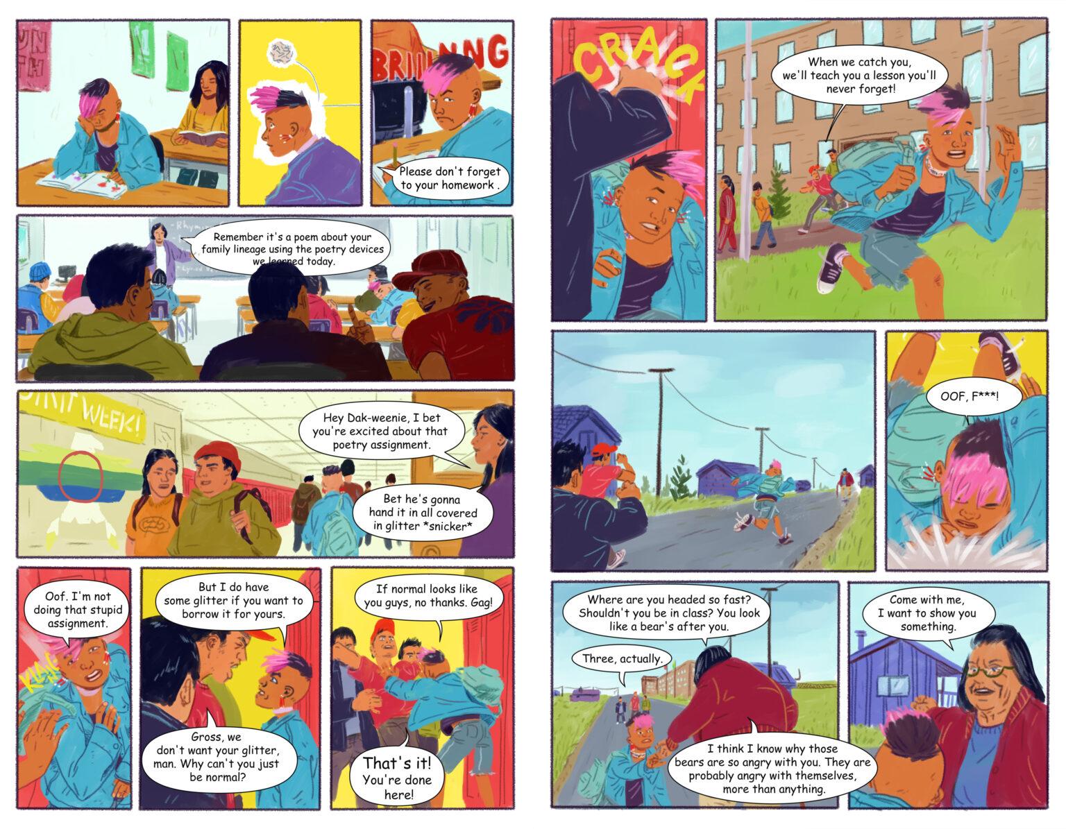 Internal comic pages of Splintered Spirits by Aranea Press